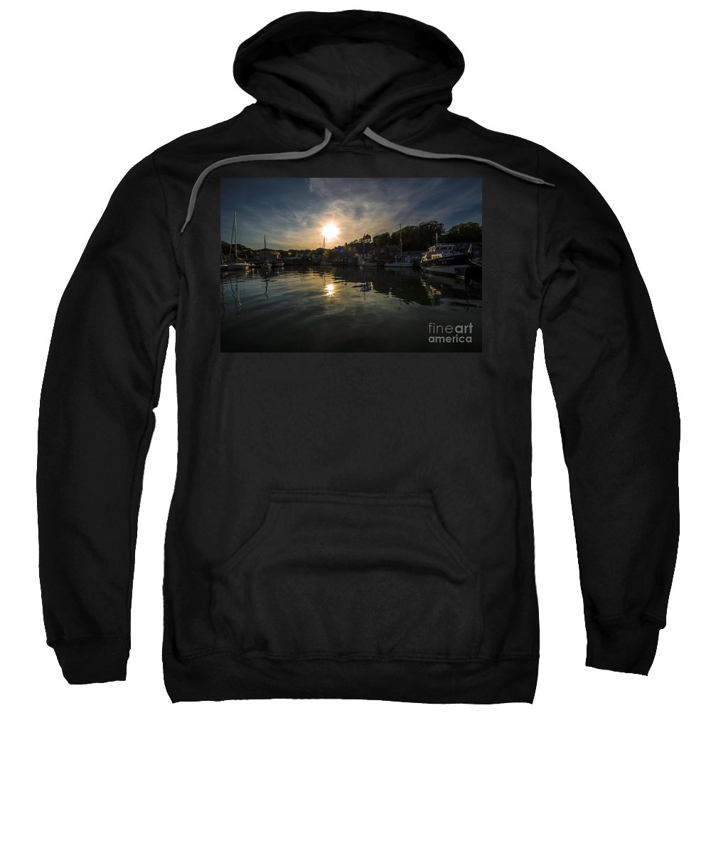 Padstow Sweatshirt featuring the photograph Padstow Dusk by Rob Hawkins
