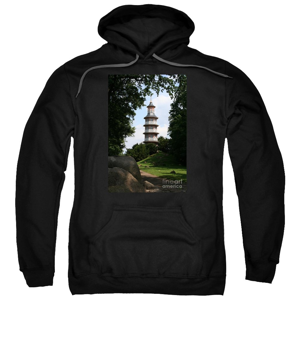 Pagoda Sweatshirt featuring the photograph Pagoda I - Dessau Woerlitz by Christiane Schulze Art And Photography
