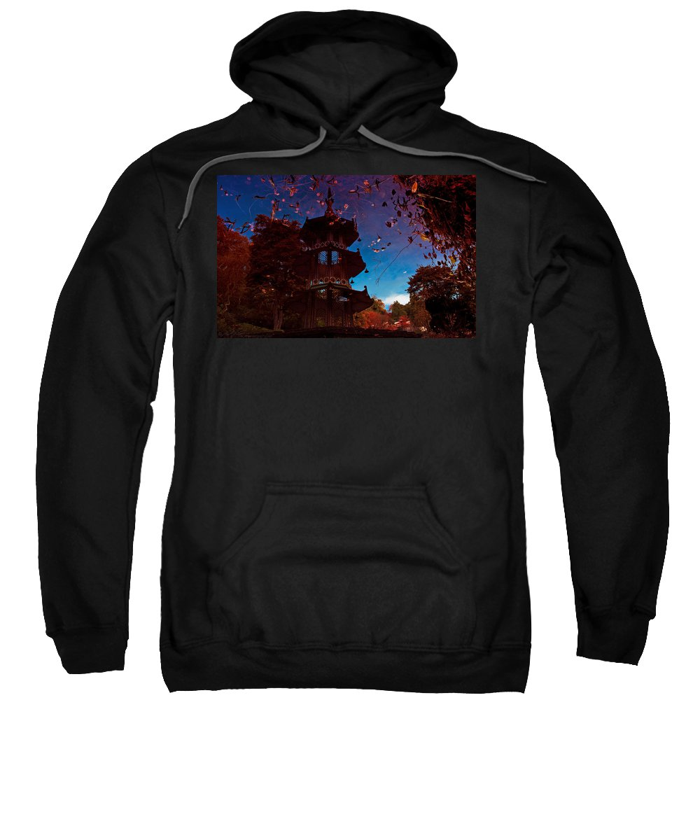 Lake Sweatshirt featuring the photograph Pagoda Reflection by Beverly Cash