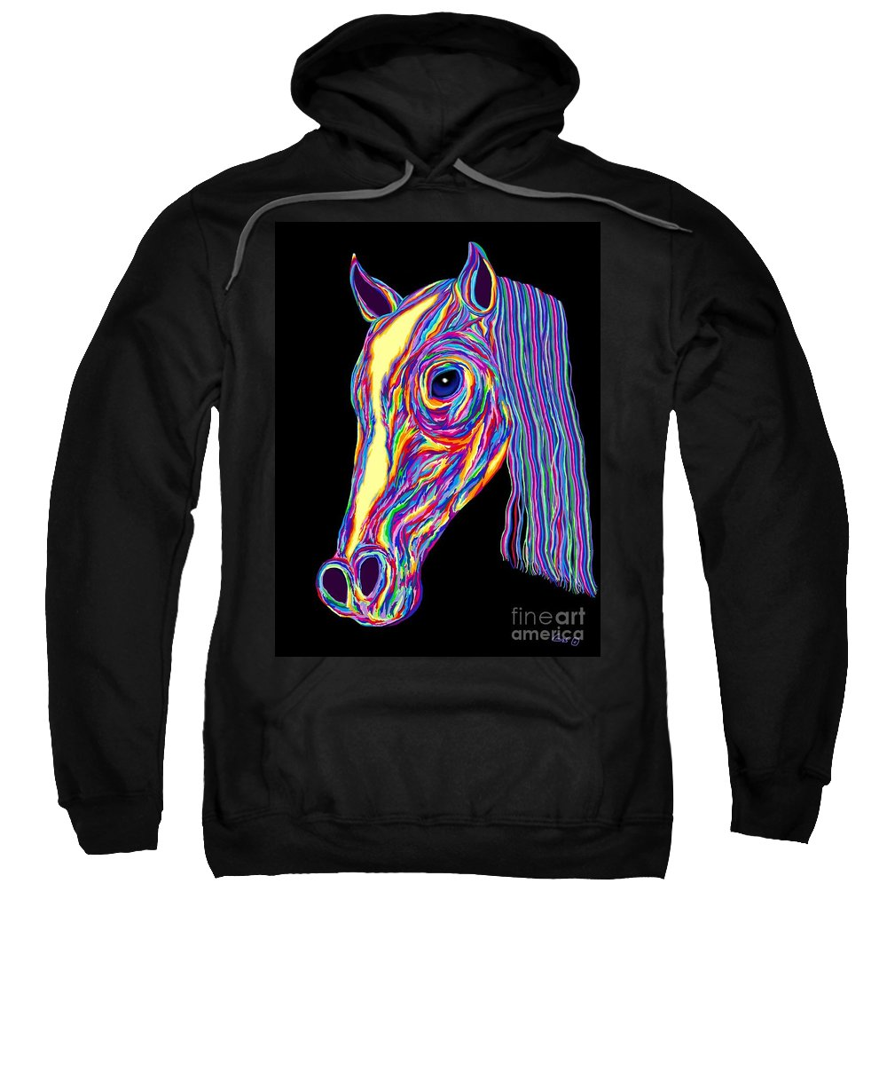 Pony Sweatshirt featuring the painting Painted Pony by Nick Gustafson