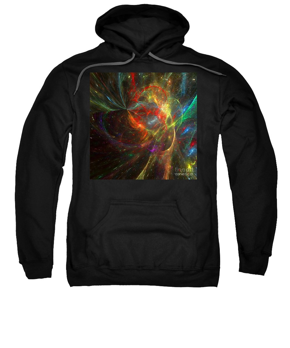Hotel Art Sweatshirt featuring the digital art Painting The Heavens by Margie Chapman