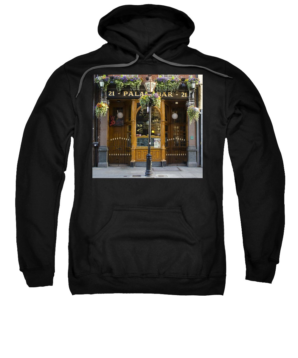 Palace Sweatshirt featuring the photograph Palace Bar - Dublin Ireland by Bill Cannon