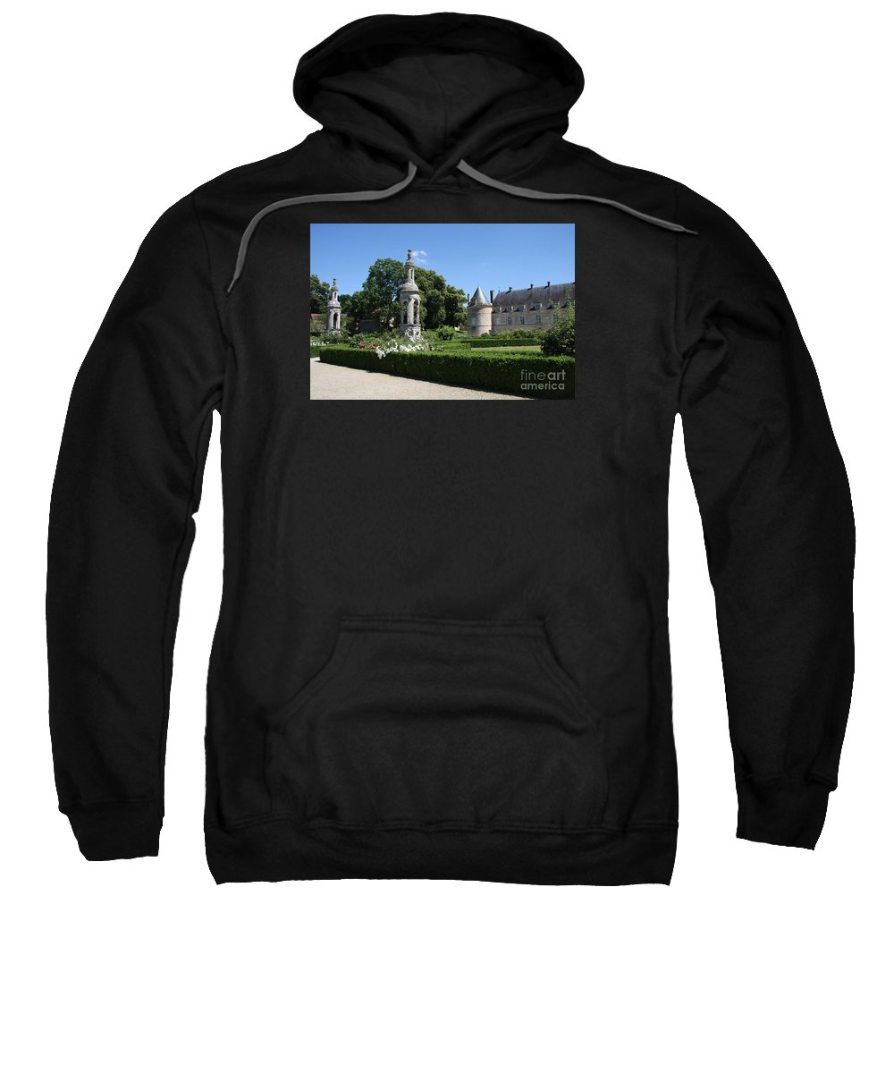 Palace Sweatshirt featuring the photograph Palace Bussy Rabutin And Garden by Christiane Schulze Art And Photography