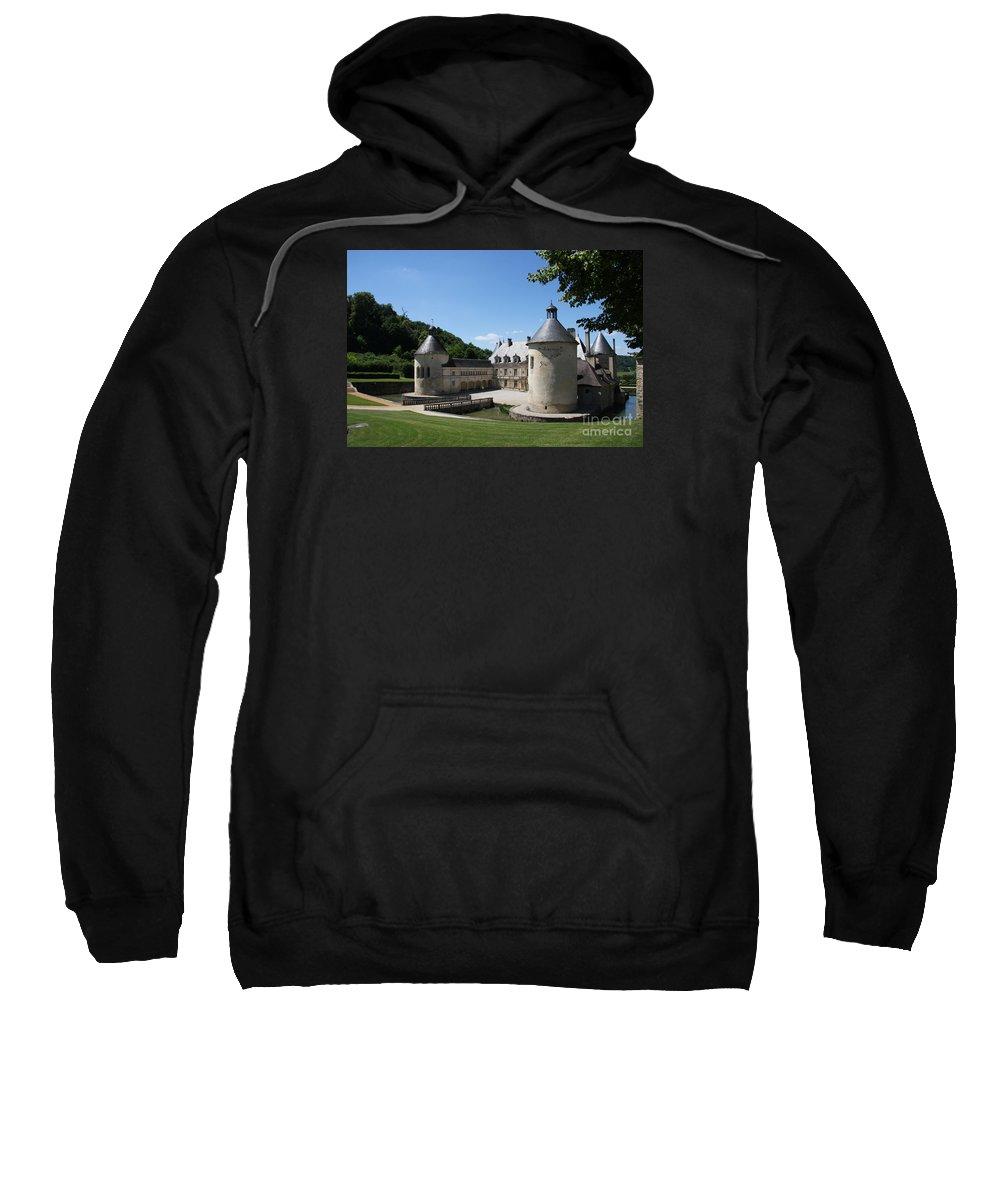 Palace Sweatshirt featuring the photograph Palace Bussy - Rabutin - Burgundy by Christiane Schulze Art And Photography