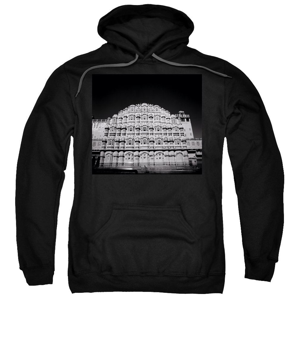 Black And White Sweatshirt featuring the photograph Palace Of The Winds by Shaun Higson