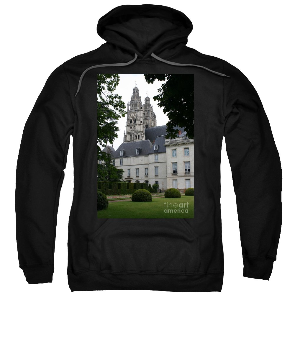 Cathedral Sweatshirt featuring the photograph Palais In Tours With Cathedral Steeple by Christiane Schulze Art And Photography