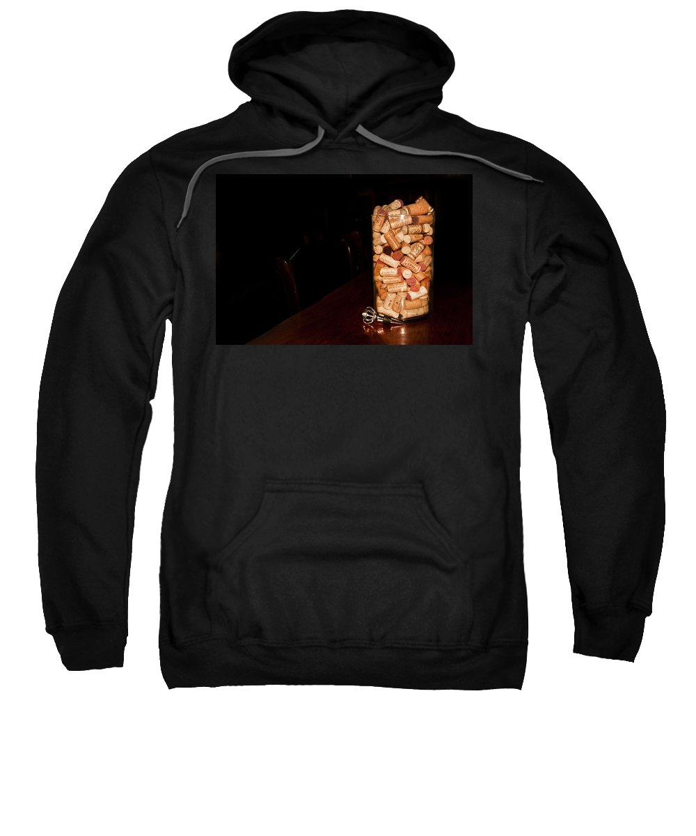 Wine Cork Bottle Sweatshirt featuring the photograph Palaver Corks by Randall Branham