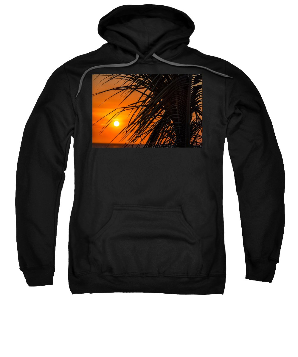 Beach Sweatshirt featuring the photograph Palm Tree Sunset by Jess Kraft