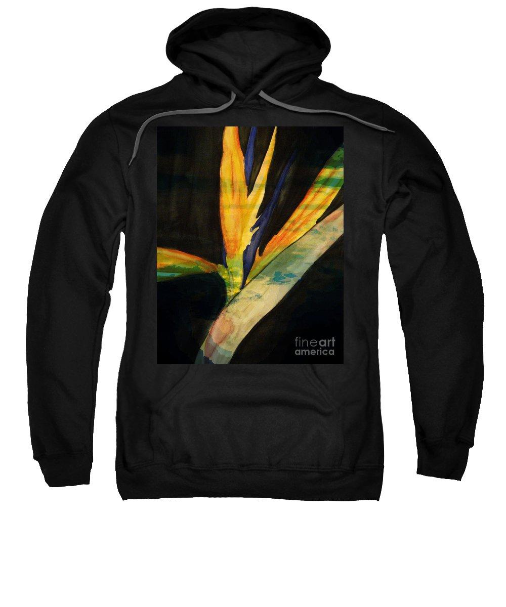 Digital Art Flower Sweatshirt featuring the digital art Paradise II by Yael VanGruber