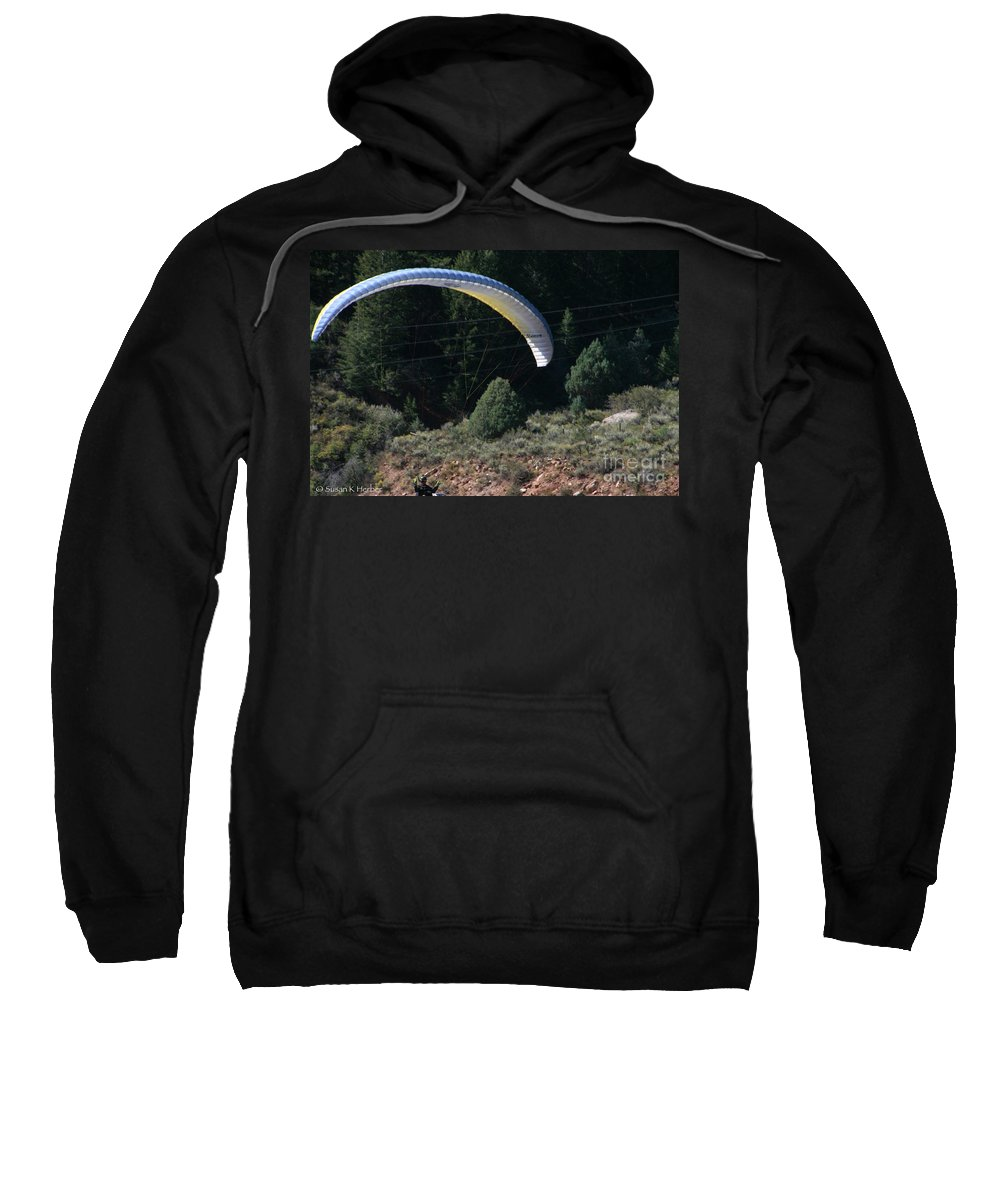 Colorado Sweatshirt featuring the photograph Paraglider by Susan Herber