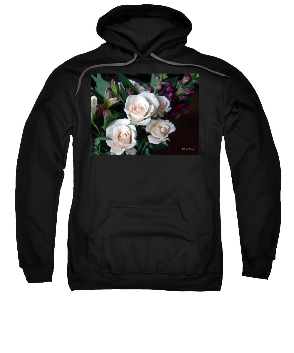 Flowers Sweatshirt featuring the photograph Pardon My Blush by RC DeWinter