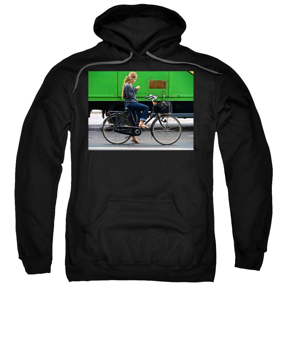 Women Sweatshirt featuring the photograph Paris Interlude by Ira Shander