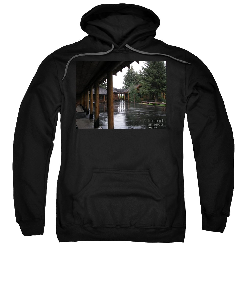 Patzer Sweatshirt featuring the photograph Parking Lot by Greg Patzer