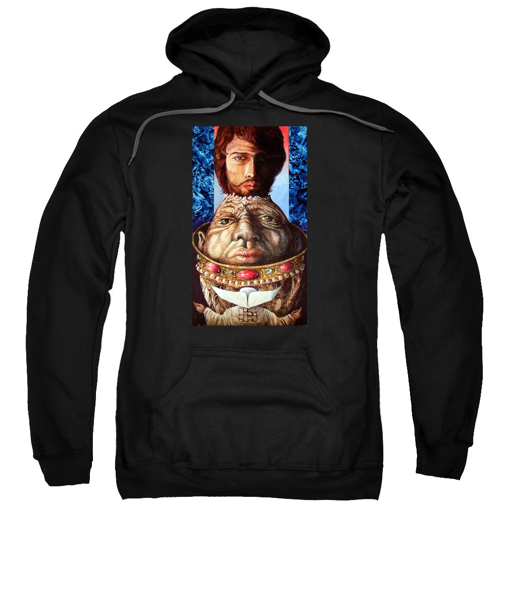 Surrealism Sweatshirt featuring the painting Parthenogenesis II by Otto Rapp