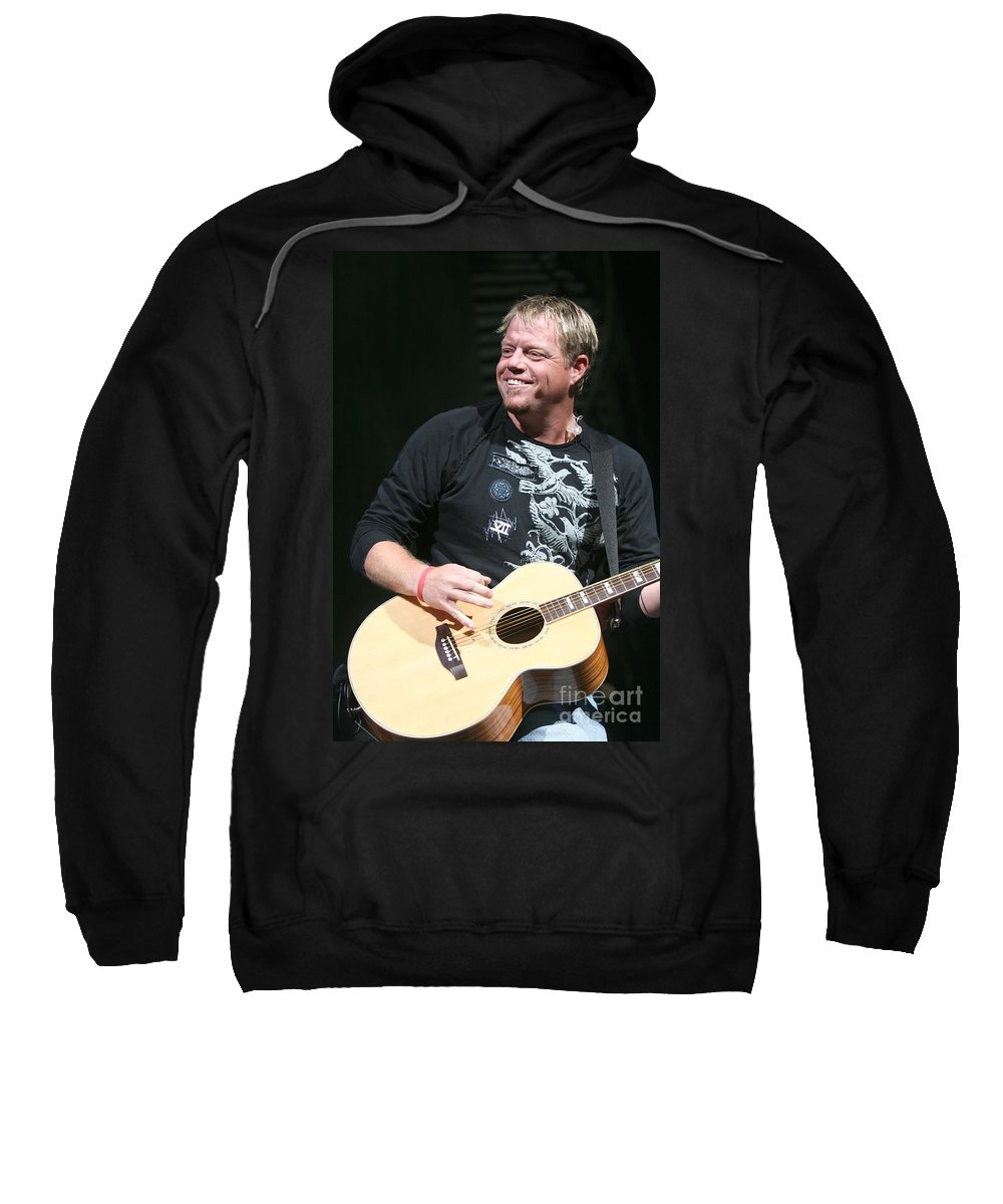 Country Sweatshirt featuring the photograph Pat Green by Concert Photos
