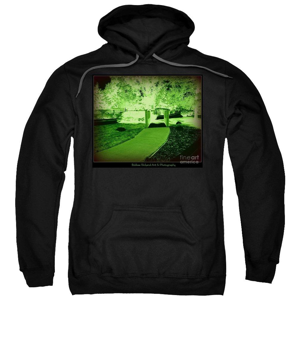 Canvas Prints Sweatshirt featuring the digital art Pathway Beyond by Bobbee Rickard