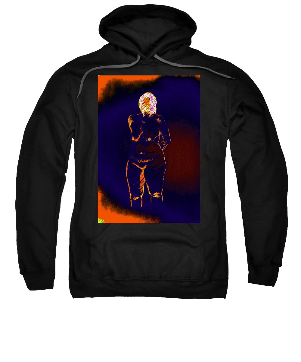 Genio Sweatshirt featuring the mixed media Patient Woman by Genio GgXpress