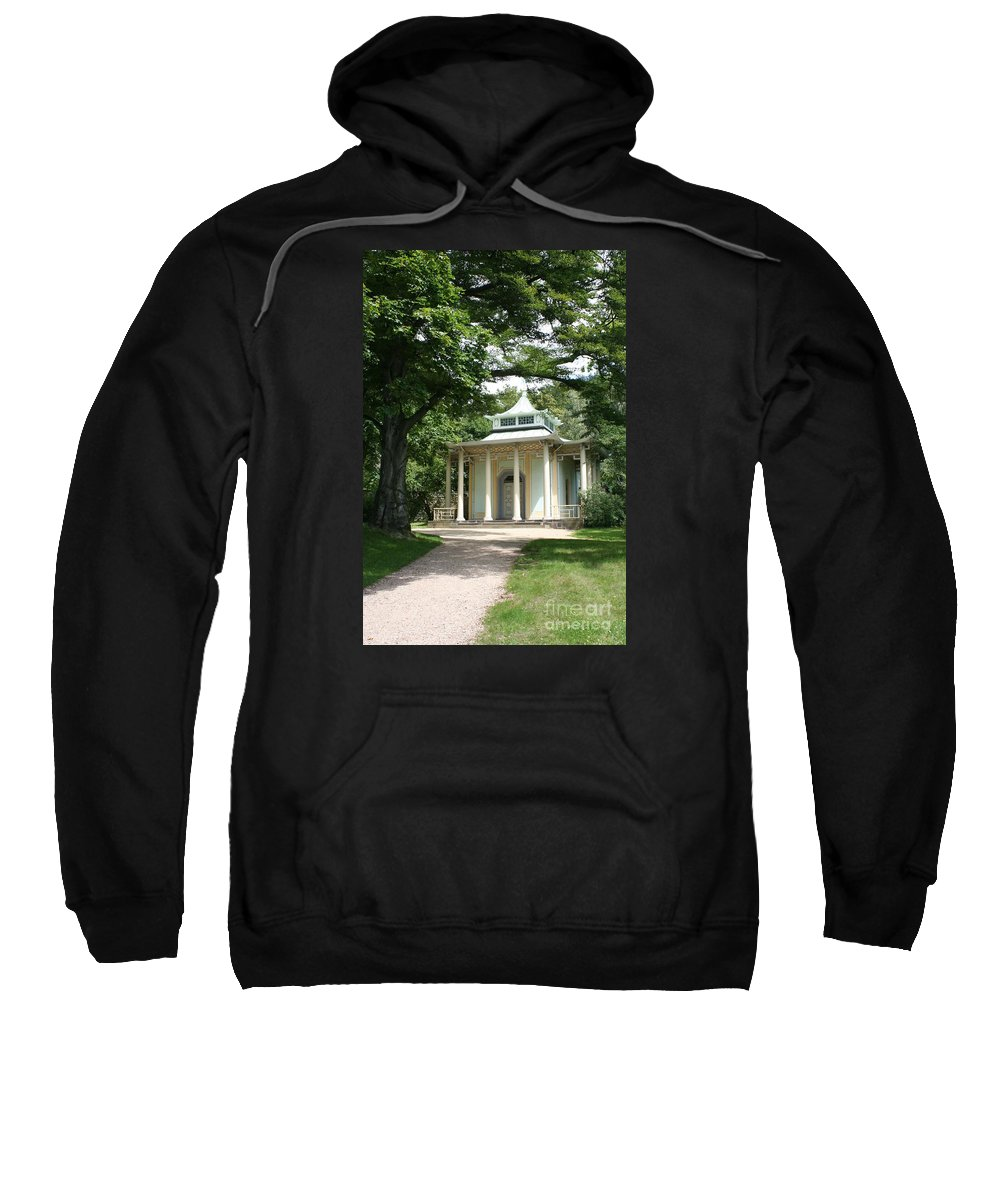 Pavilion Sweatshirt featuring the photograph Pavilion Park Pillnitz - Germany by Christiane Schulze Art And Photography