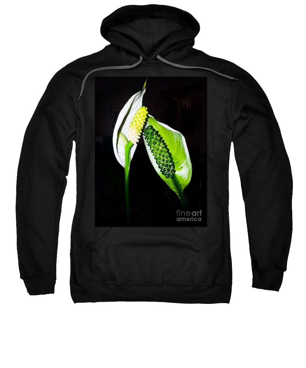 Flower Sweatshirt featuring the photograph Peace Lilies by Donna Brown