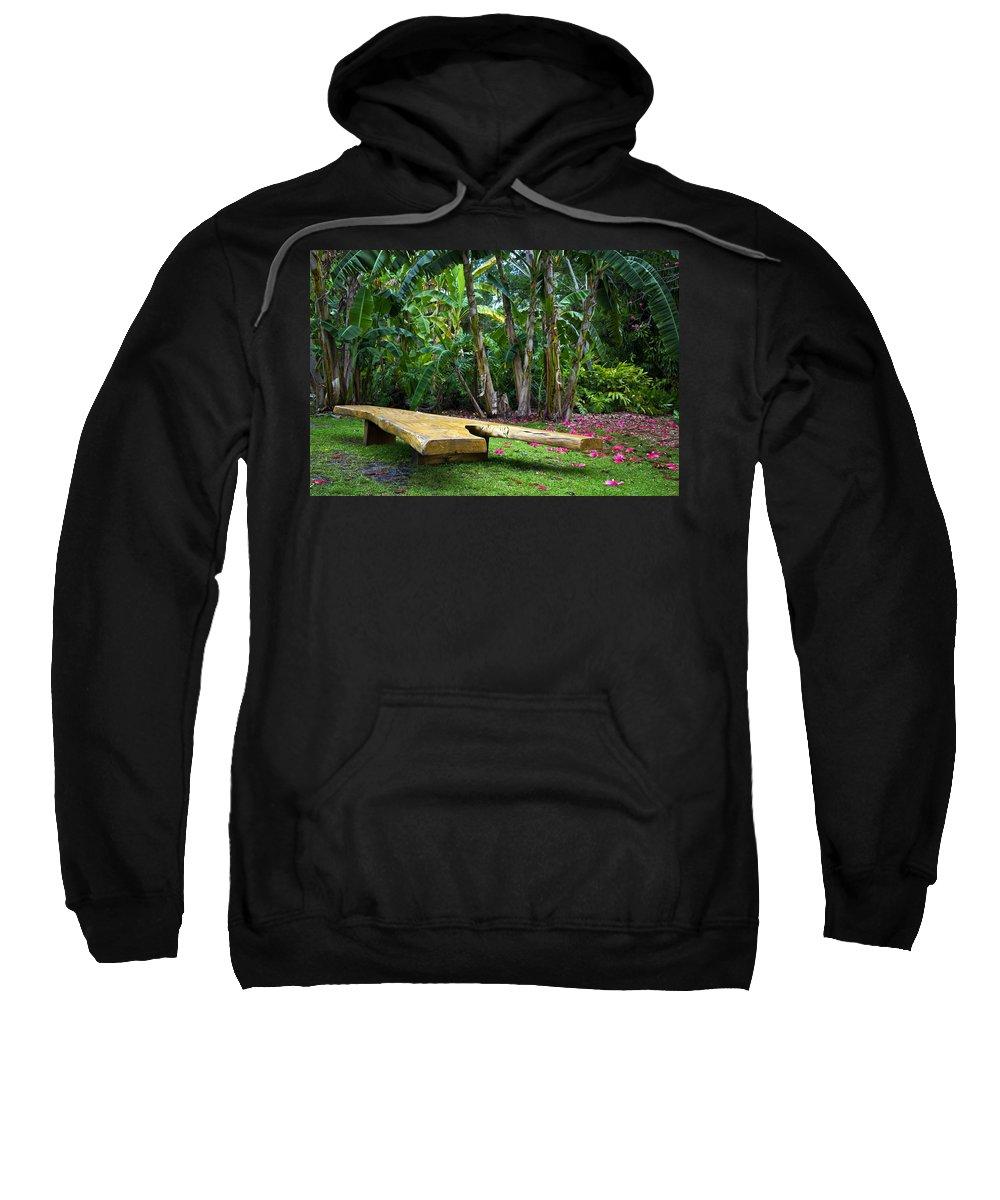 Garden Sweatshirt featuring the photograph Peaceful Garden by Vanessa Valdes