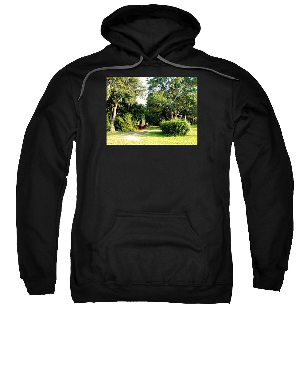 Gazebo Sweatshirt featuring the photograph Peaceful Morning by Catherine Gagne