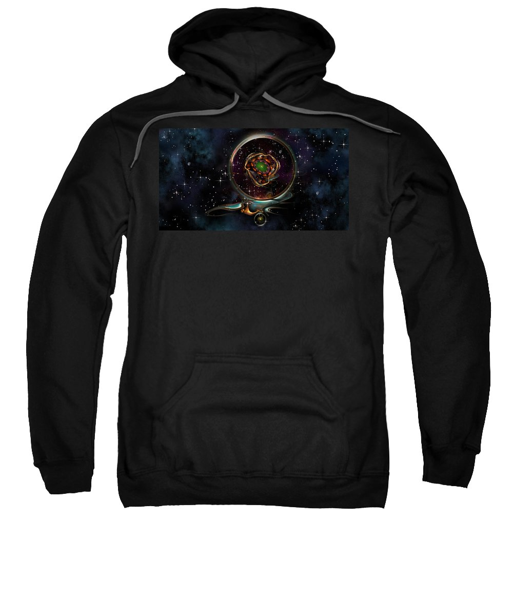 Philsh Sweatshirt featuring the digital art Pendant by Phil Sadler