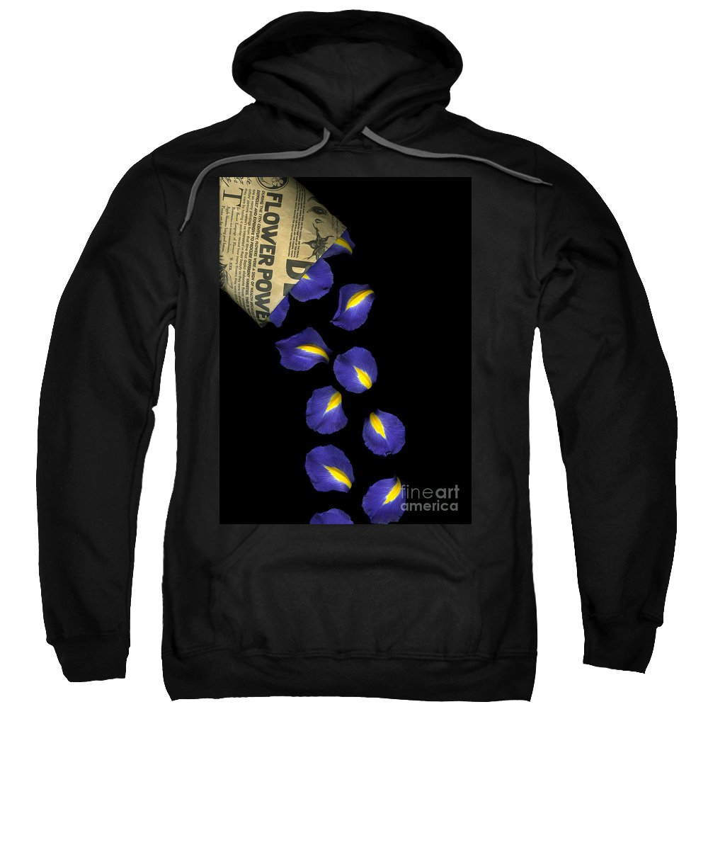 Scanography Sweatshirt featuring the photograph Petal Chips by Christian Slanec