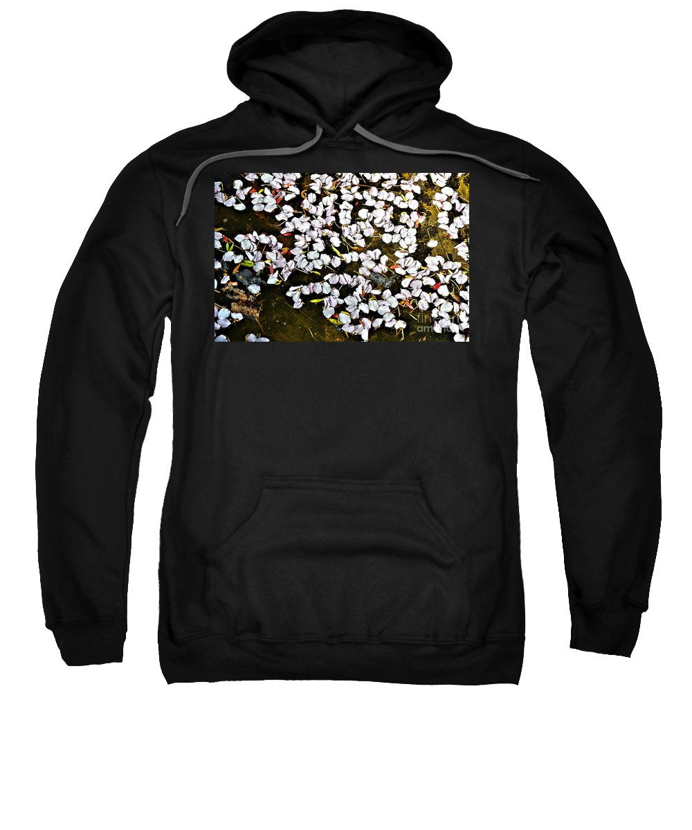 Abstract Sweatshirt featuring the photograph Petals In The Pond by Lauren Leigh Hunter Fine Art Photography