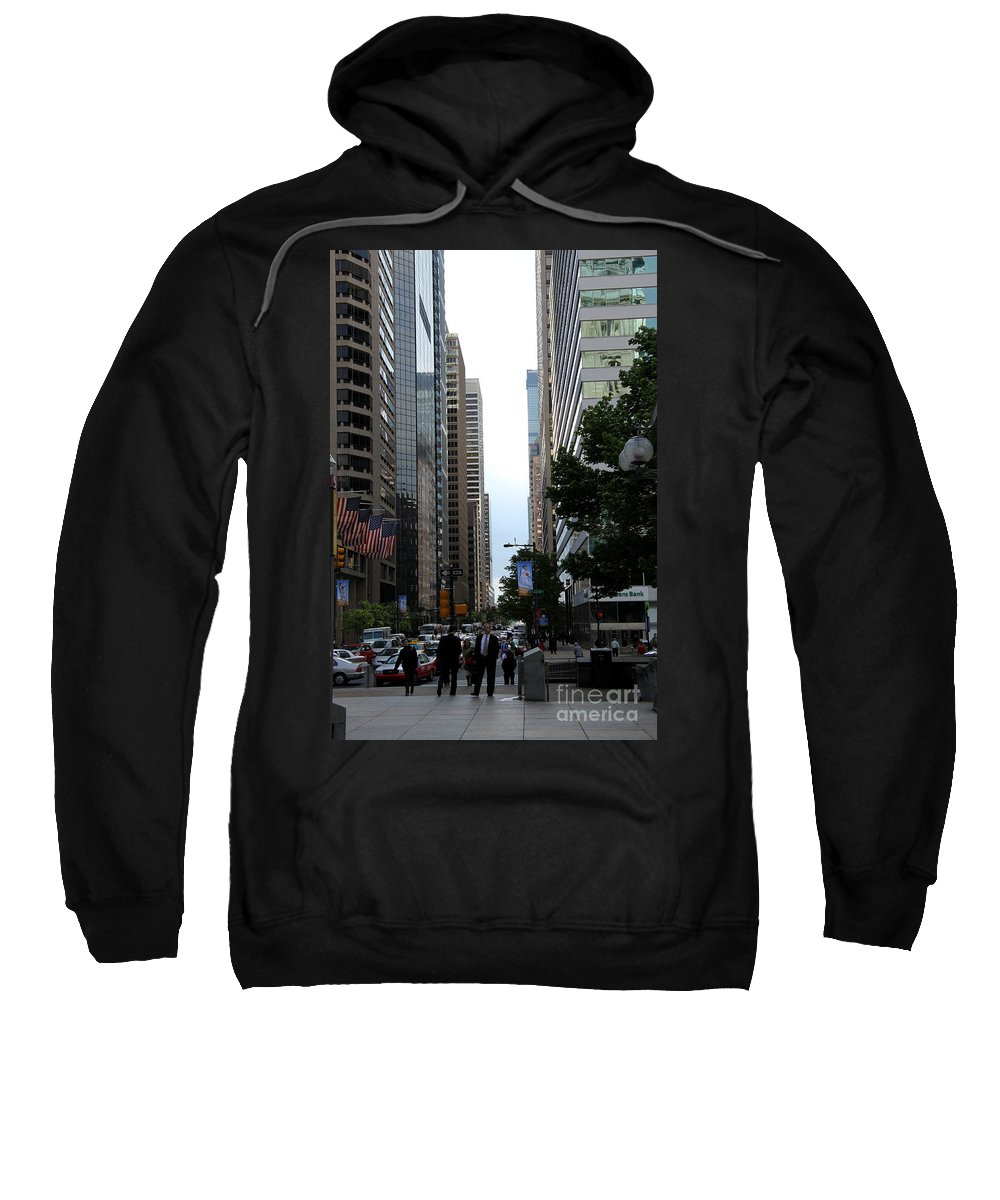 Street Canyon Sweatshirt featuring the photograph Philadelphia Street Canyon by Christiane Schulze Art And Photography
