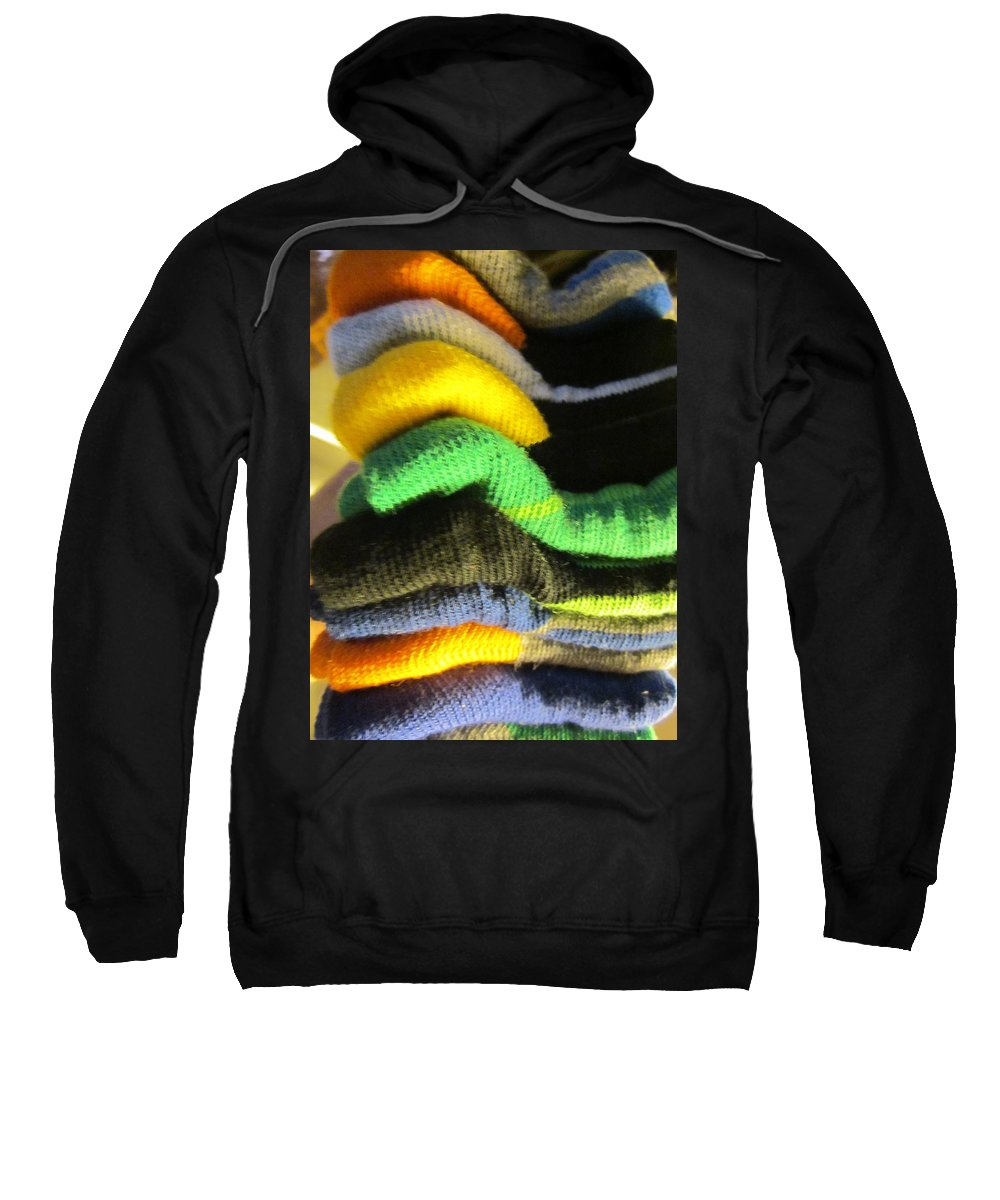 Socks Sweatshirt featuring the photograph Piled Up by Rosita Larsson