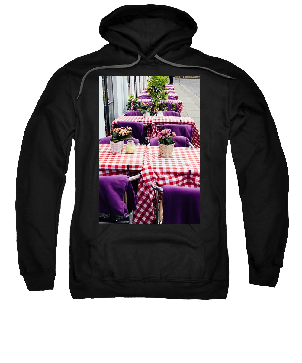 Pink Sweatshirt featuring the photograph Pink And Purple Dining by Patrycja Polechonska