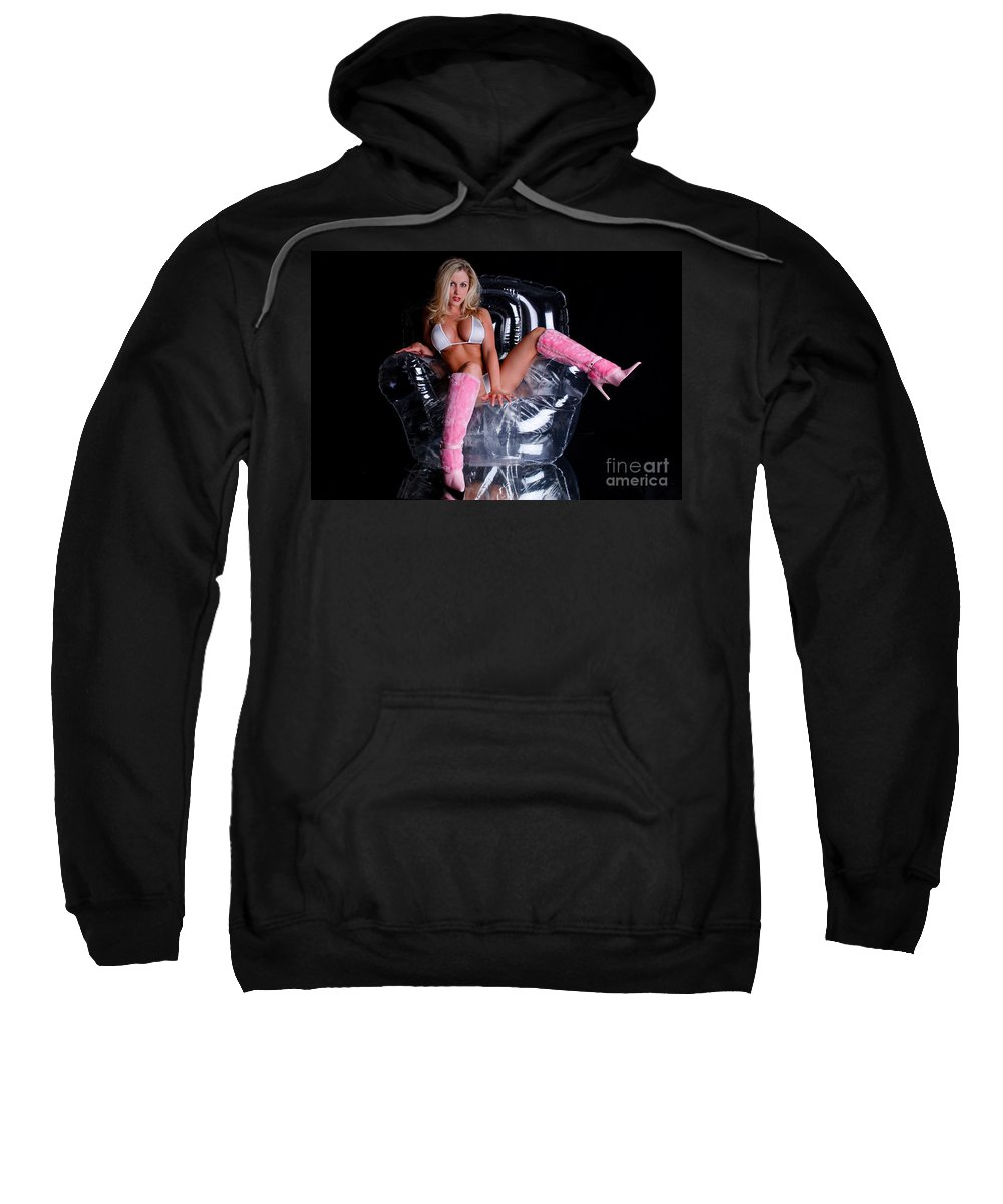 Breast Sweatshirt featuring the photograph Pink Boots by Jt PhotoDesign