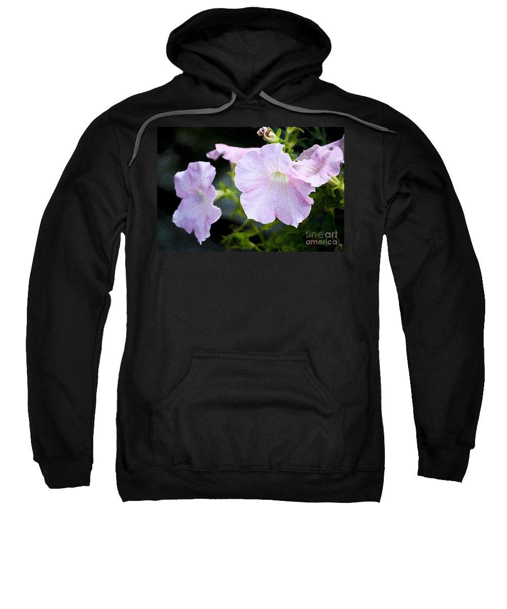Bloom Sweatshirt featuring the photograph Pink Glory by Flamingo Graphix John Ellis