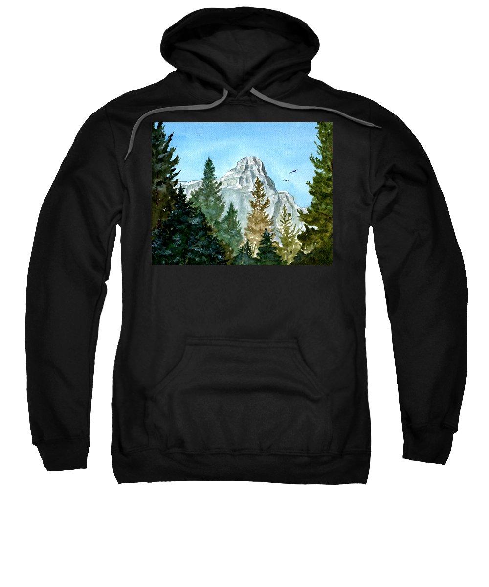 Watercolor Sweatshirt featuring the painting Pinnacle by Brenda Owen
