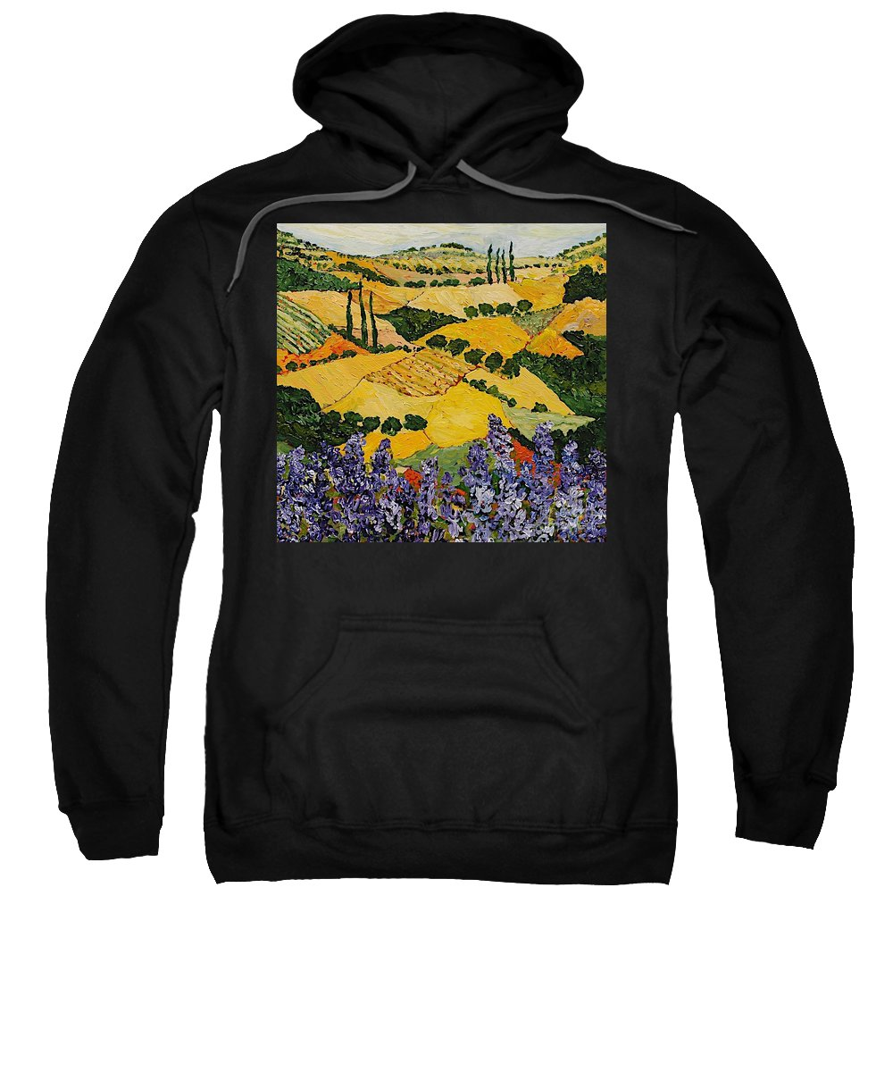 Landscape Sweatshirt featuring the painting Piping Hot by Allan P Friedlander