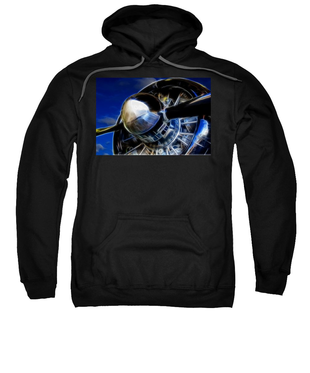 Engine Sweatshirt featuring the photograph Pistons Firing by Ricky Barnard