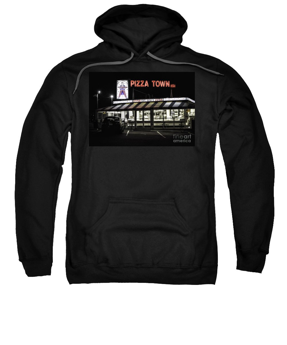 New Jersey Sweatshirt featuring the photograph Pizza Town by Jerry Fornarotto