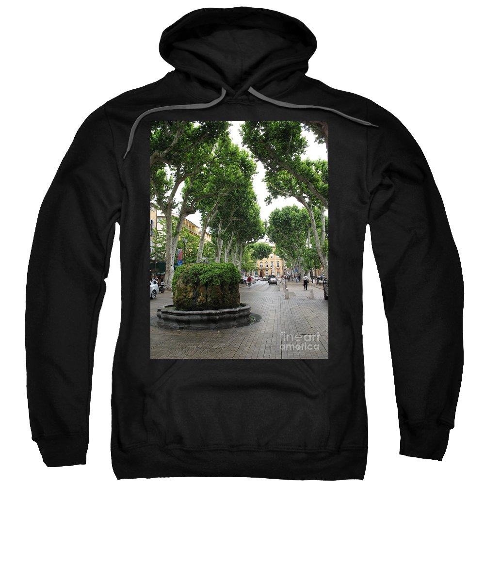 Plane Sweatshirt featuring the photograph Plane Alley - Aix En Provence by Christiane Schulze Art And Photography