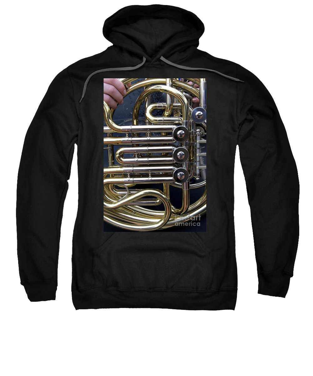 Music Sweatshirt featuring the photograph Player In The Band by Skip Willits