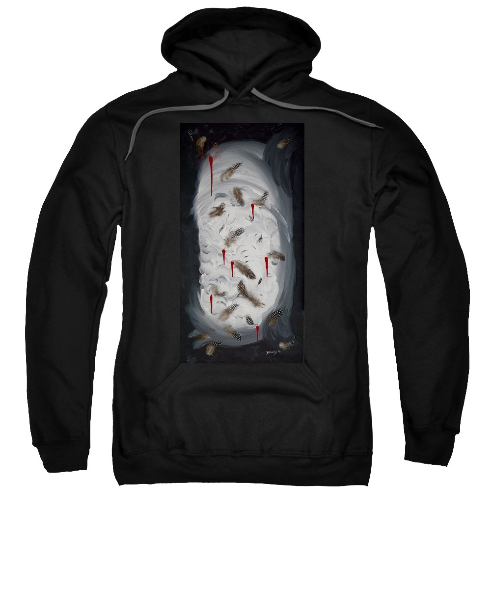 Modern Sweatshirt featuring the painting Plucked by Donna Blackhall