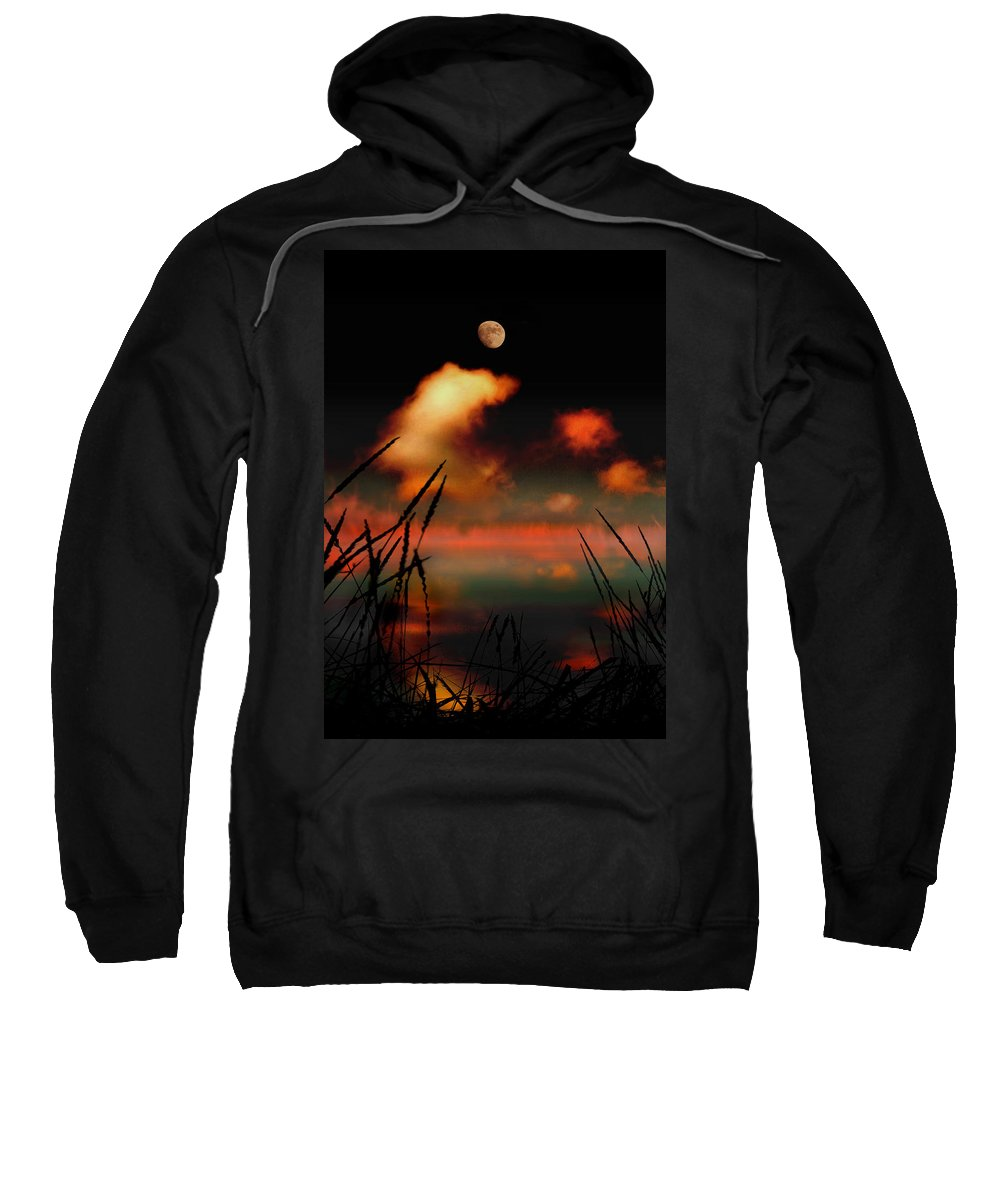 Landscape Sweatshirt featuring the photograph Pointing At The Moon by Mal Bray