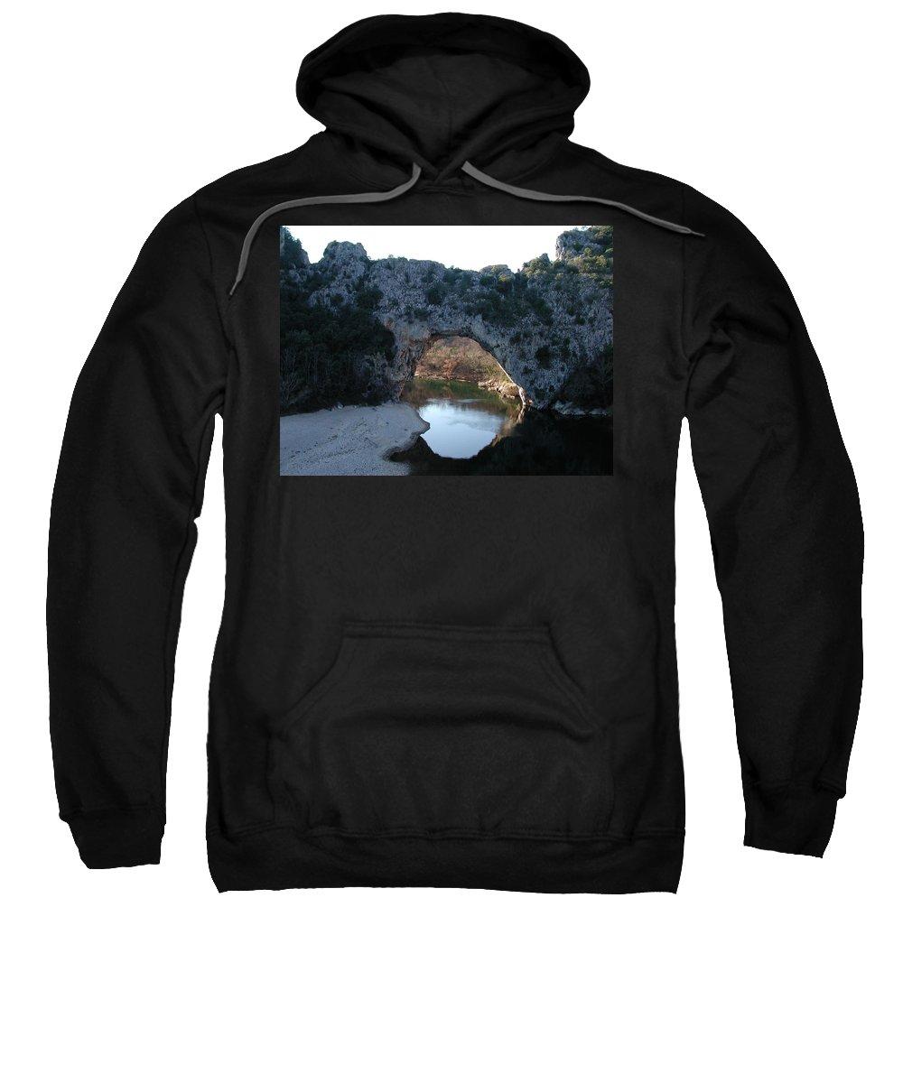 Colette Sweatshirt featuring the photograph Pond Dark Ardeche France by Colette V Hera Guggenheim