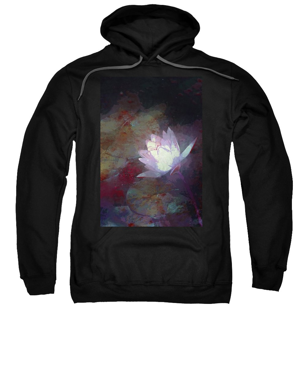 Floral Sweatshirt featuring the photograph Pond Lily 32 by Pamela Cooper