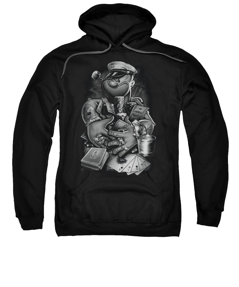 Popeye Sweatshirt featuring the digital art Popeye - Mine All Mine by Brand A