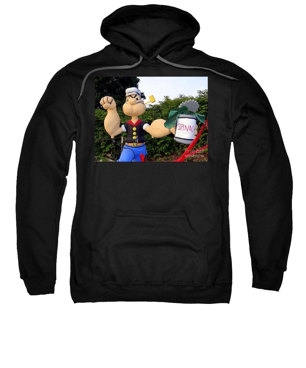 Farm Sweatshirt featuring the photograph Popeye The Sailor Man by Ed Weidman