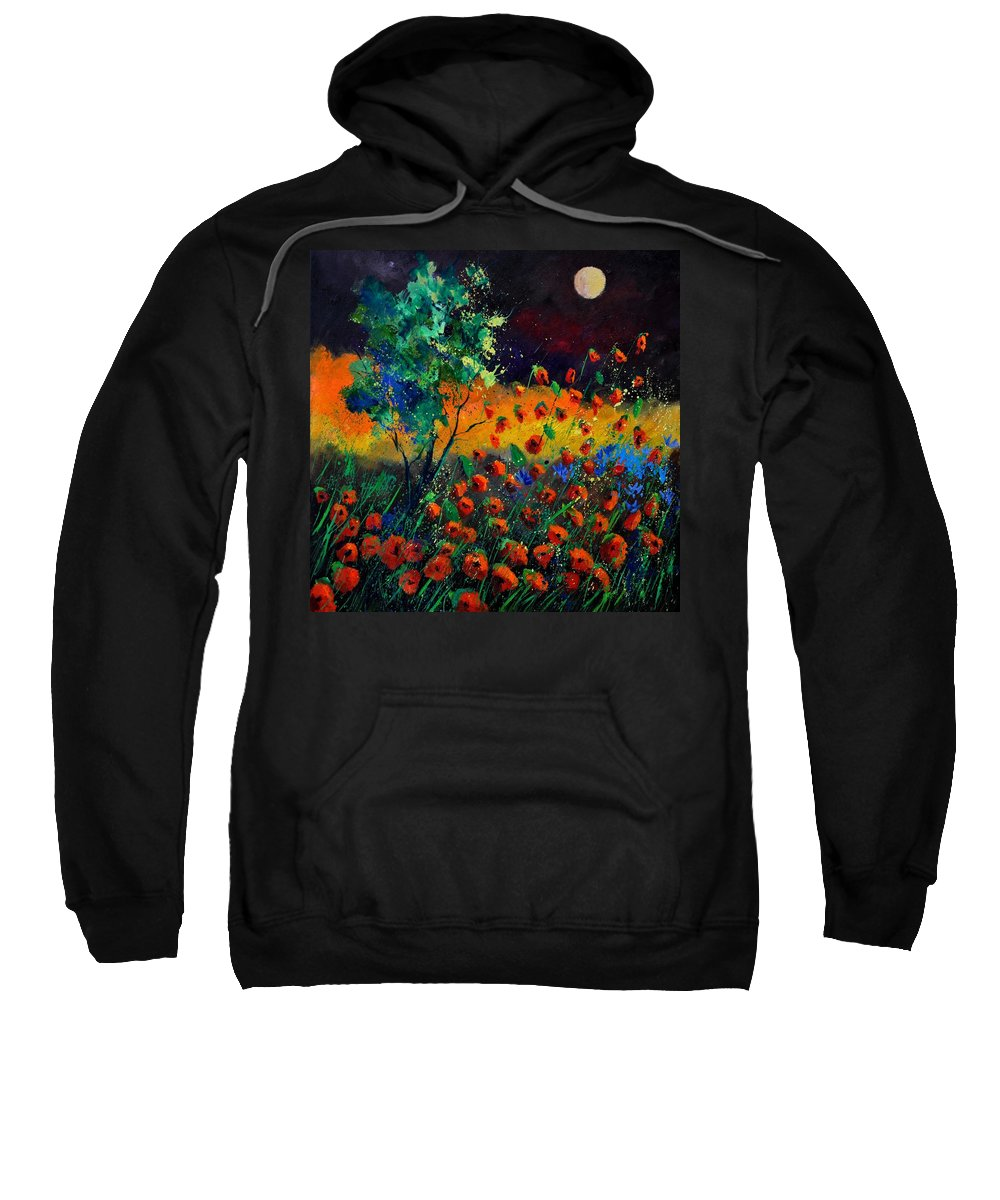 Landscape Sweatshirt featuring the painting Poppies 774111 by Pol Ledent