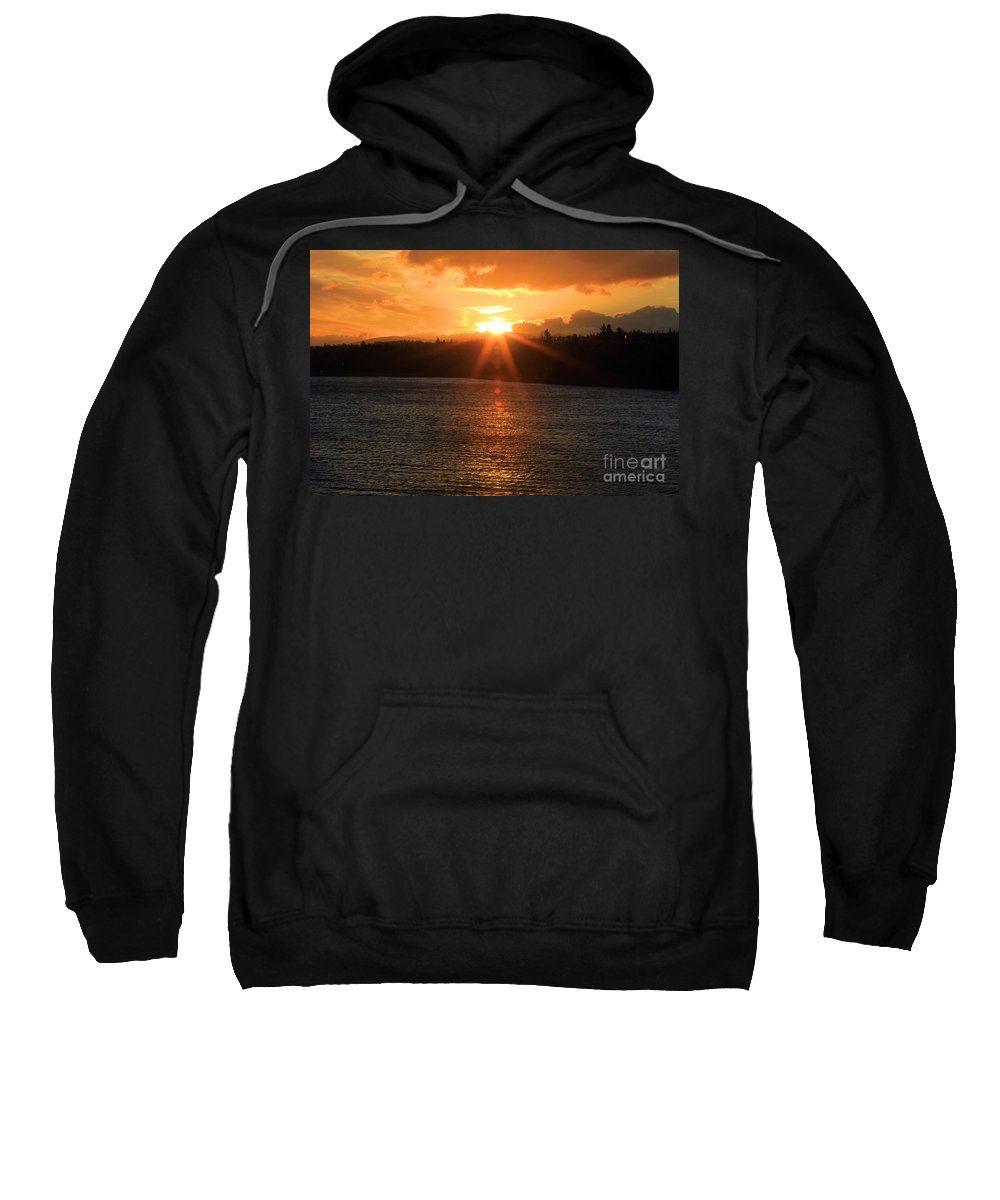 Port Angles Sweatshirt featuring the photograph Port Angeles Sunrise by Adam Jewell