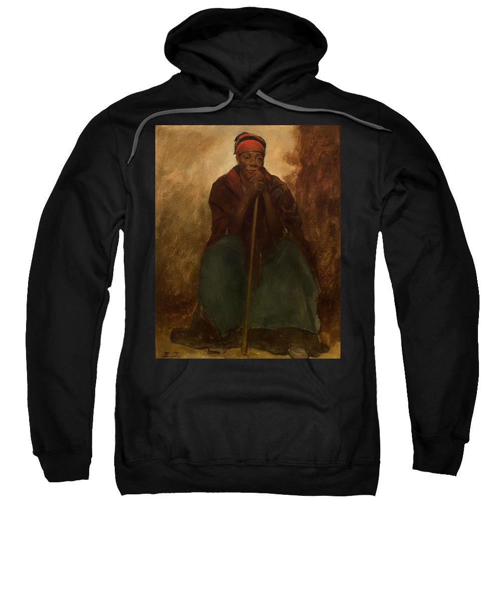 Painting Sweatshirt featuring the painting Portrait Of A Negress by Mountain Dreams