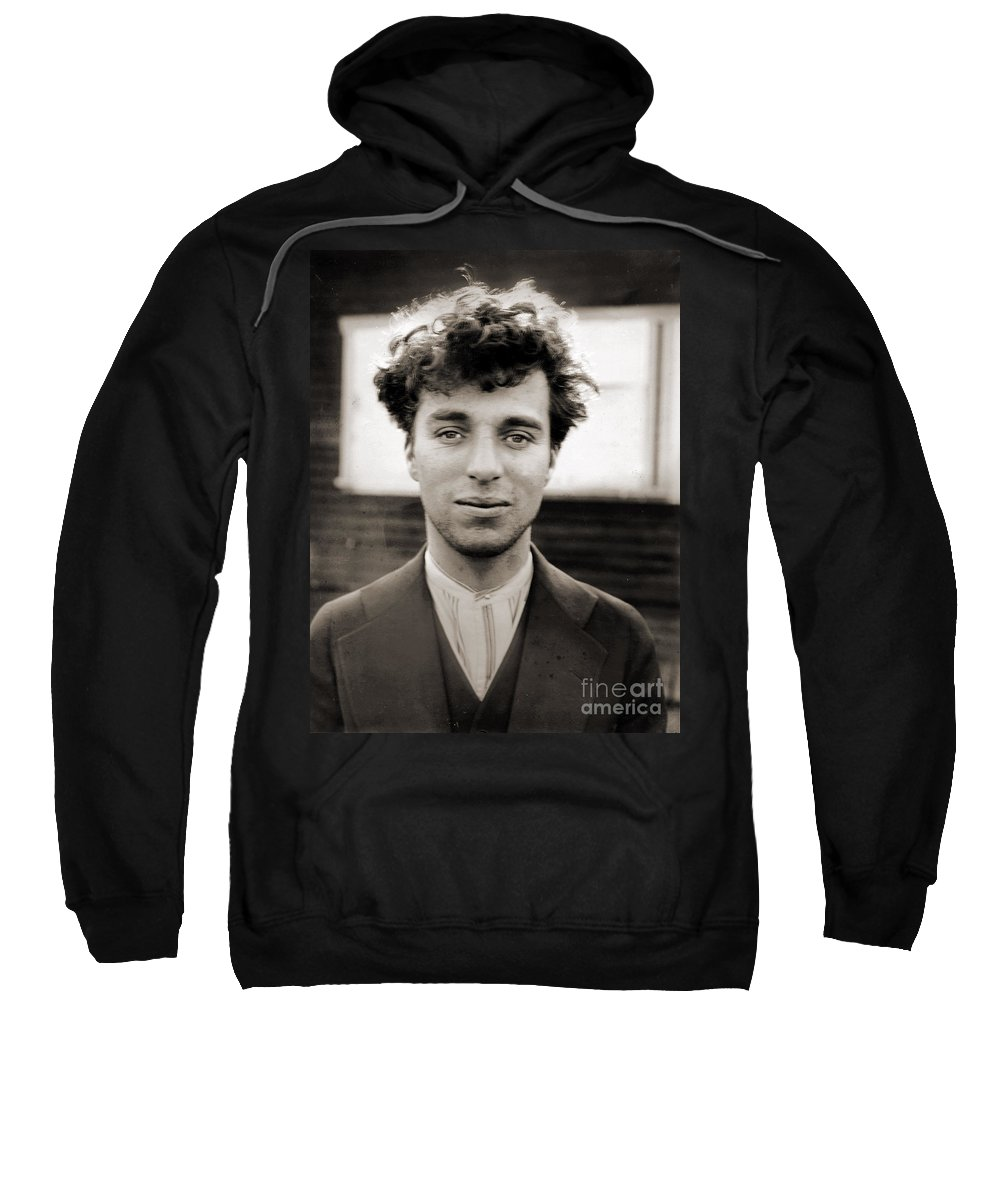Comedy Sweatshirt featuring the photograph Portrait Of Charlie Chaplain by American Photographer