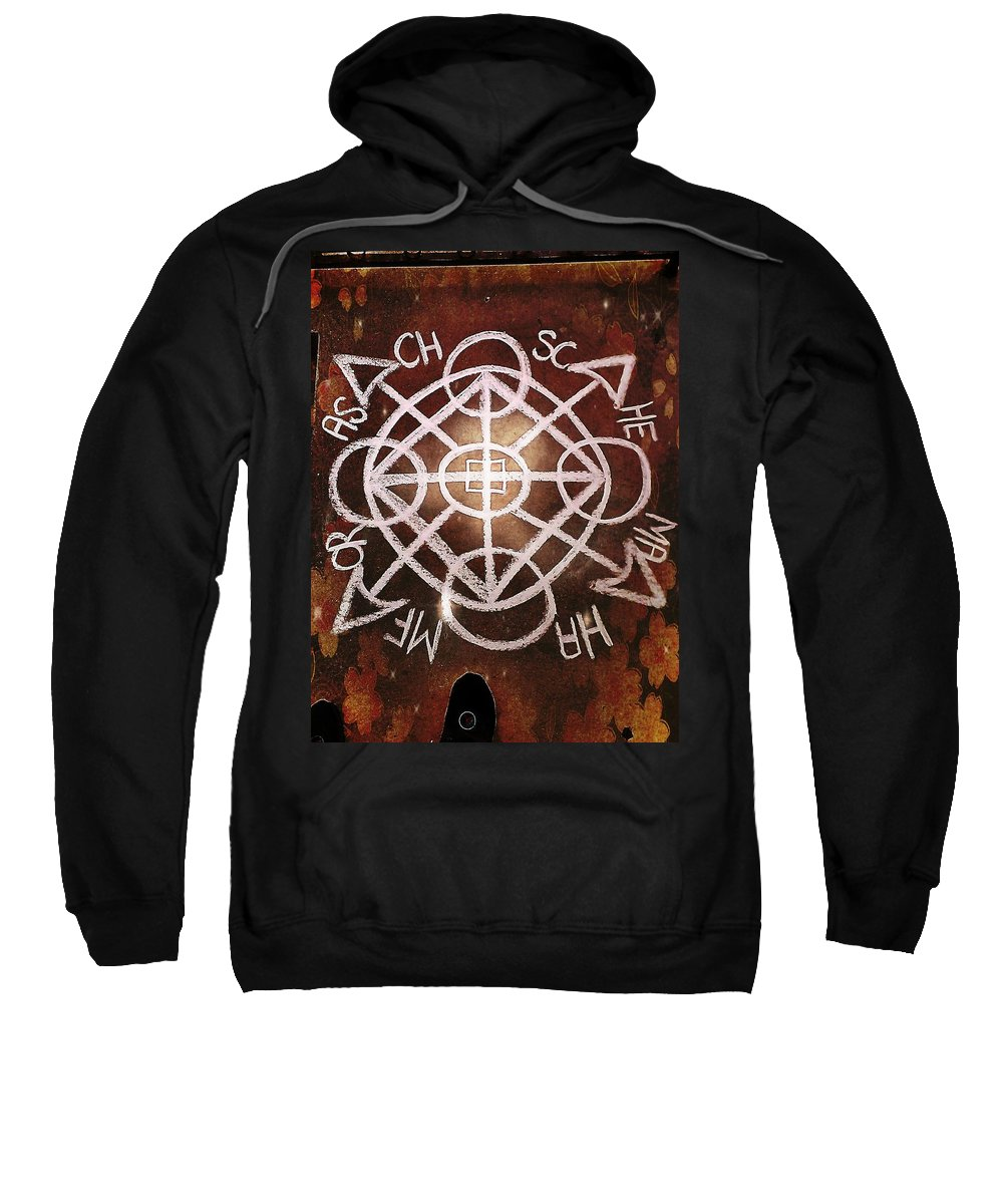 Chalk Art Sweatshirt featuring the mixed media Positive Portal by Alexander Ladd